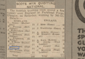 1933 Scots Quoiting National Team