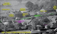 Looking to Main Street, Auchinraith 1955