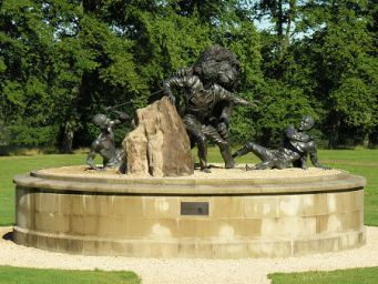 2015 David Livingstone Lion statue, by Gareth Knowles