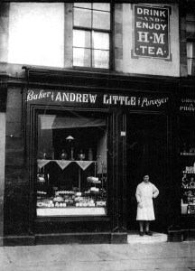 Andrew Little's Shop 1930s. Isabella Little. Shared by G Cook