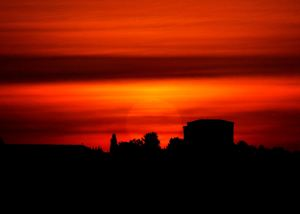 Blood Red Sky 29th September 2015 by Jim Brown