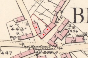 1859 Map showing Kirkton Buildings