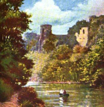 Bothwell Castle from Blantyre 1880s
