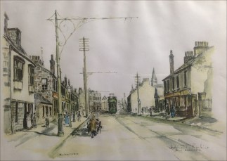 Glasgow Road painted by HT Rankine