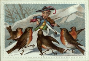 """Image taken from """"Album of Christmas, New Year and other Greeting Cards"""" c.1877. Early and Fine Printing Collection item number 719847 AQ741.68"""