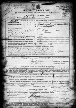 Robert Nimmo d1918 Short Service Record Part 1