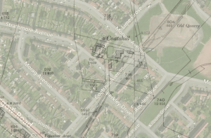 Coatshill Farm 1898 overlaid with today aerial