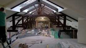 The new Ballroom at Crossbasket Castle. November 2015 (PV)