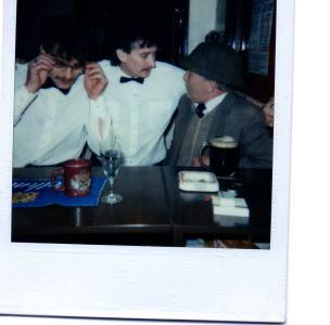 Early 80s. In the Red Lion Pub (photo by Sam Maxwell)
