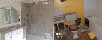 Crossbasket Castle . Difference of 5 years