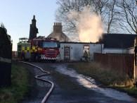 Auchentibber Farm Fire 8th Dec 2015. Photo by A Rochead