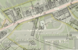 1898 map overlaid with modern aerial