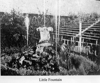 1909 Little Fountain Auchentibber Gardens (PV)