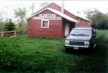 1990 The Beers drive back to Blantyre Ontario