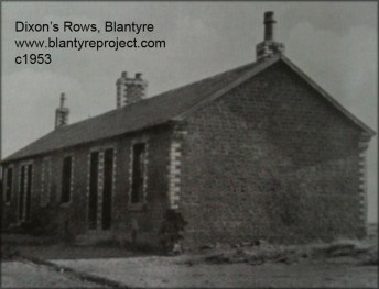 1953 Dixons Rows before demolition