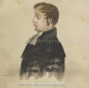 1820s Rev John Hodgson, High Blantyre