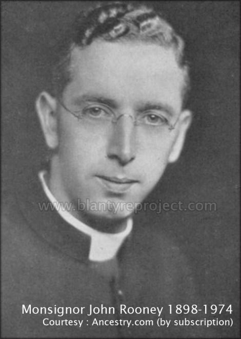 1920s Monsignor John Rooney1