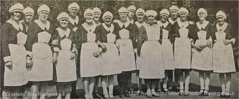 1929 Girls at Auchinraith Domestic Training Centre