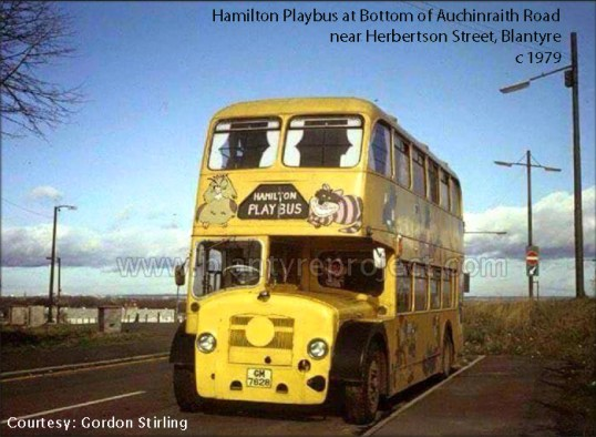 1979 playbus at Auchinraith Road1 wm copy