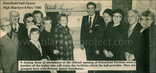 1980 Provost Swinburne opening Priestfield Hall