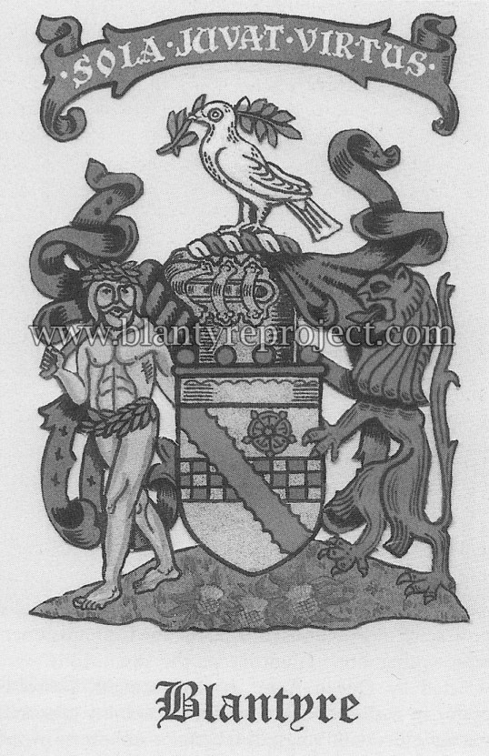 1606 coat of arms Blantyre wm