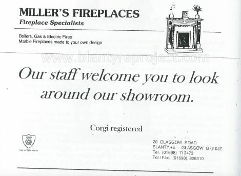 2004 Milers Fireplaces advert wm