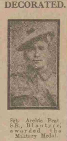 1917 Archie Peat