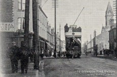 1910 Tram on Glasgow Road