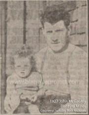 1927 John McAuley, miner