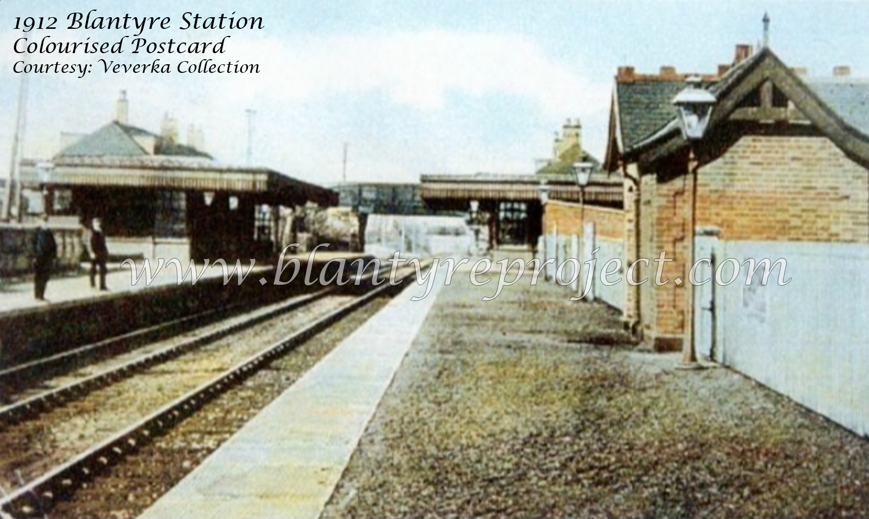 1912 Blantyre Station colourised