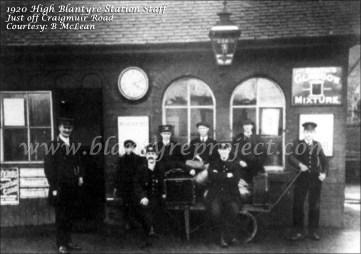 1920 High Blantyre Railway Staff