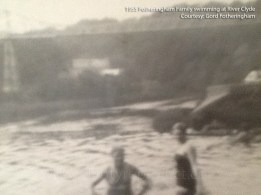 1955 Fotheringham Family swim in the Clyde