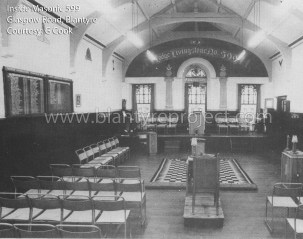 Inside Masonic Lodge 599, Glasgow Road