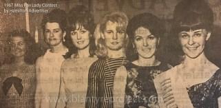 """1967 Blond lady Ann Blair at """"Miss Fair Lady"""" contest"""
