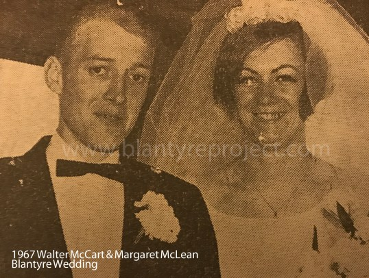 1967 Walter McCart & Margaret Mclean wm