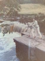 1968 Cathy and Mary at Milheugh Falls