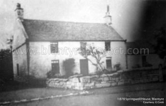 1878 Springwell Farm, bottom of Auchinraith Road