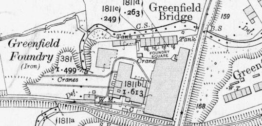 1910 Greenfield foundry map