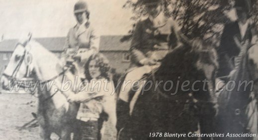 1978 Blantyre Conservatives Association horsriders wm