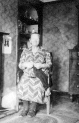 Mrs Slater at 1 Priory Street in 1940s