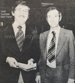 1978 Tom Blair on left of Glen Travel