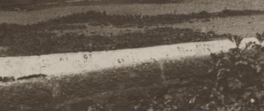 1920s graffiti on wall