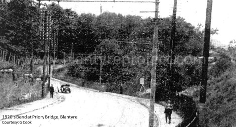 1920s bad bend at Spittal wm