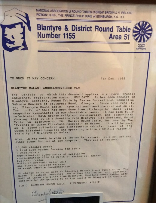 1988 Round Table donation