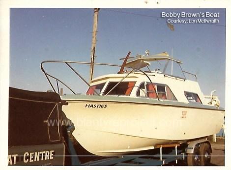 8 - Bobby Brown's cabin cruiser, HastiesBrown wm