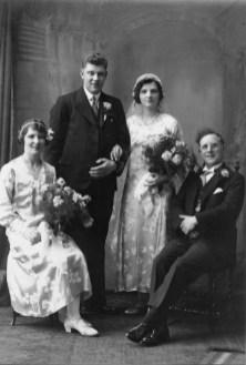 1934 John Duncan & Mary Danskin (sister Jean and best Man John Reid)