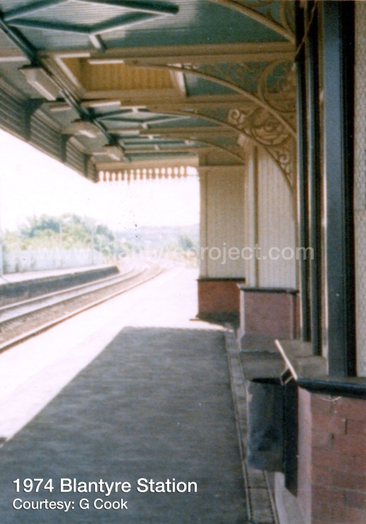 1974 old station same year electrification by GC wm