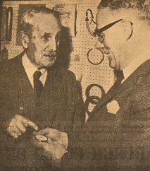 1967 Dr Wilson hand Livinstone watch to Mr Mackie