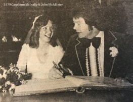 1979 Carol Ann McInally & John McAllister