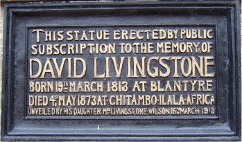 2018 Livingstone plaque 1